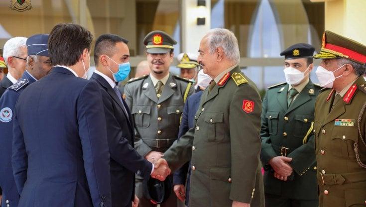 """conte-e-di-maio-da-haftar-con-la-proposta-di-serraj:-""""nuovo-premier-in-libia"""""""