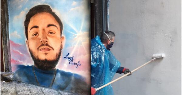 luigi-caiafa,-cancellato-il-murales-dopo-4-mesi-e-un-morto-ammazzato:-lo-stato-si-rivede-a-forcella