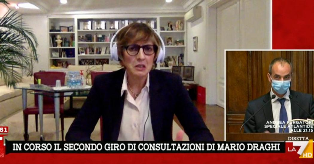 """bongiorno-(lega)-a-la7:-""""conte-all'interno-del-governo-draghi?-si,-puo-dare-grosso-contributo"""""""