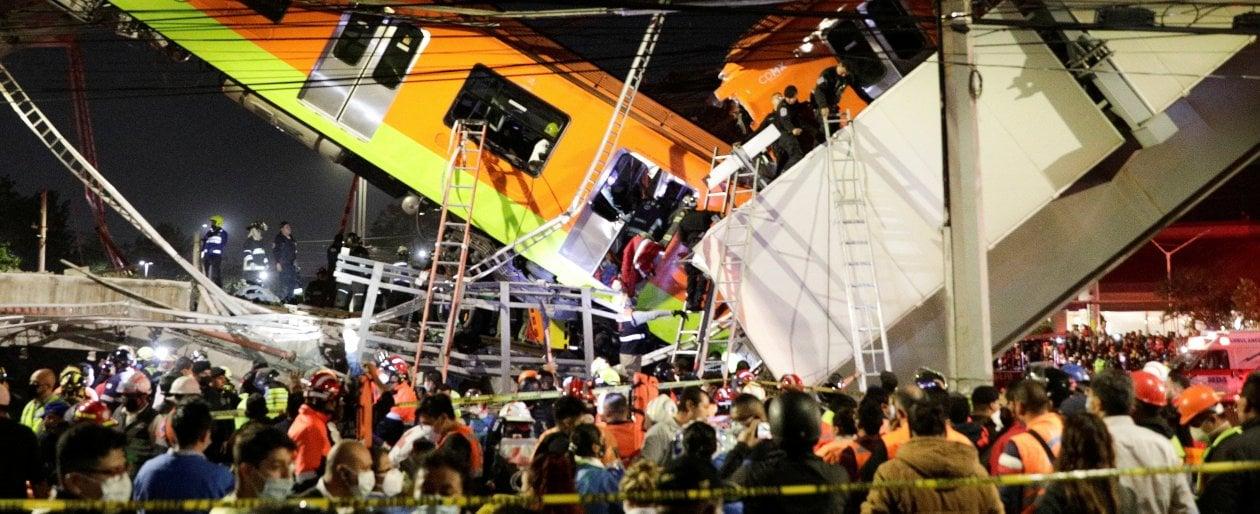 citta-del-messico,-ponte-della-metropolitana-crolla-sulla-strada:-20-morti-e-decine-di-feriti