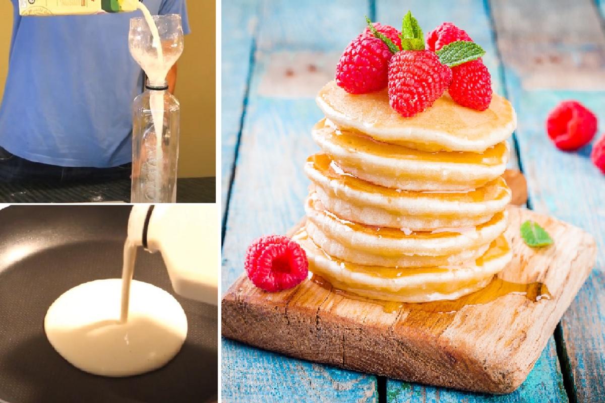 pancake-in-bottiglia:-l'idea-geniale,-facilissima-e-super-veloce-per-preparare-la-colazione-in-5-minuti-senza-sporcare