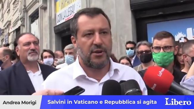 """matteo-salvini-in-vaticano-agita-repubblica:-""""soltanto-routine"""",-cosi-la-sinistra-derubrica-la-visita"""