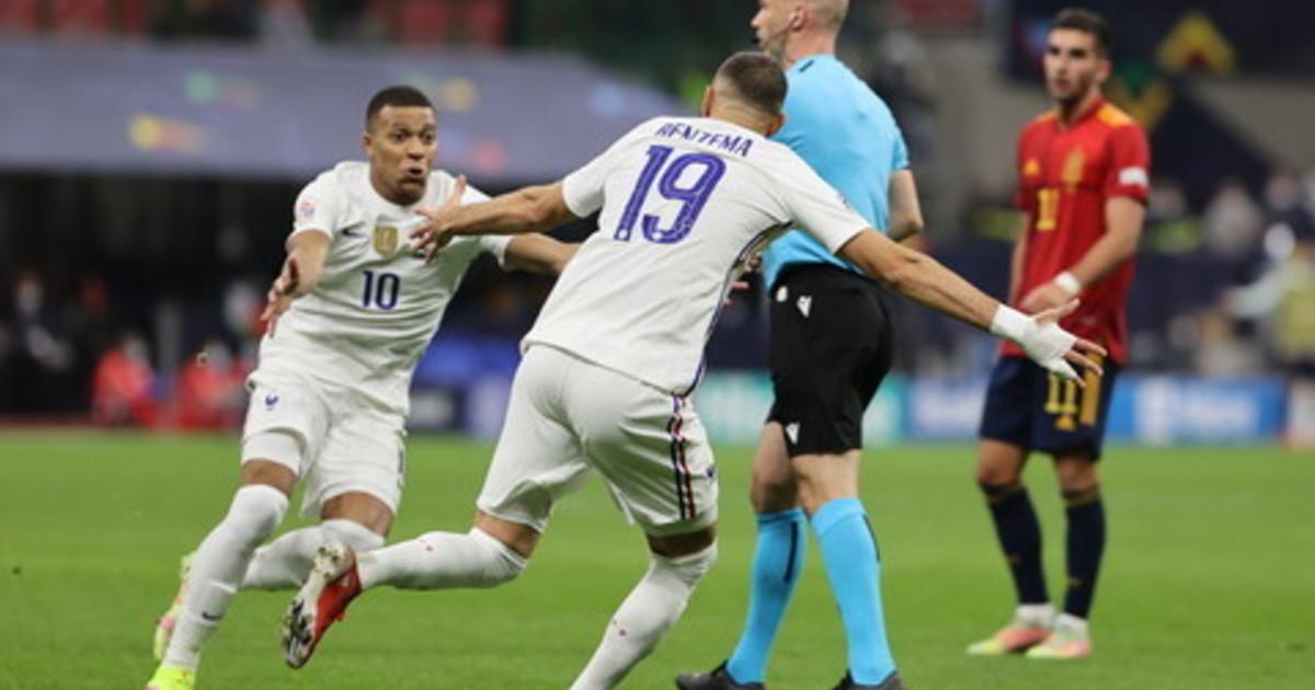 benzema-e-mbappe-illuminano-san-siro:-la-francia-e-campione-in-nations-league,-rimontata-la-spagna